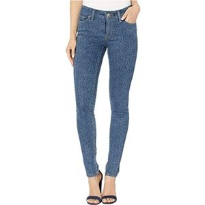 NEW LEVI'S LEOPARD STRETCHY SKINNY BLUE JEANS NWT